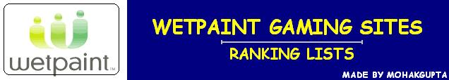 Wetpaint Gaming Sites