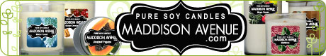 Pure Soy Candles by Maddison Avenue Candle Company