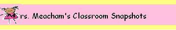 Mrs. Meacham's Classroom Snapshots
