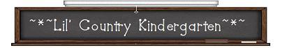 Lil' Country Kindergarten