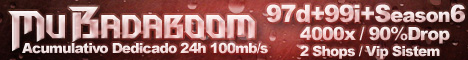 | Mu Badaboom | 97d+99i+Season6 | 4000x | Acumulativo | 90%Drop | Dedicado 24h |