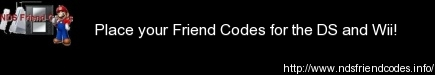 NDS Friend Codes