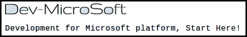 Dev-MicroSoft