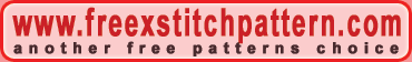 Another free cross stitch patterns choice