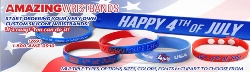 4th July Wristbands