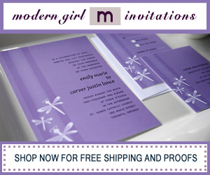 modern girl wedding invitations