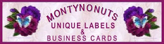 Montynonuts Unique Labels & Business Cards