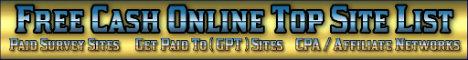 Free Cash Online Top Site List (New!)