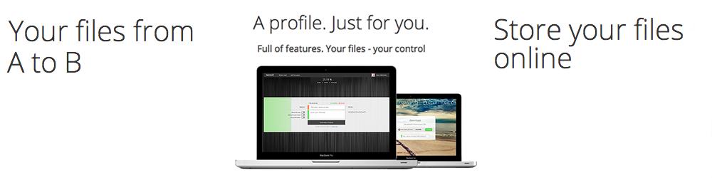 Wossit-Send big files for free