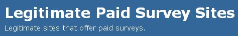 Legitimate Paid Survey Sites
