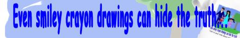 Smiley Crayon Faces- Abuse Prevention Tee's