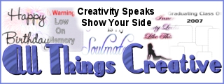 All Things Creative - Creativity Speaks