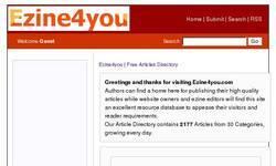Screenshot of ezine4you.com