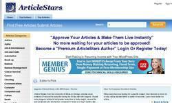 Screenshot of ArticleStars