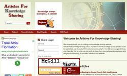 Screenshot of ArticlesForKnowledgeSharing