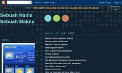Screenshot of sebuahnamasebuahmakna.blogspot.com