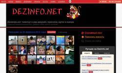 Screenshot of dezinfo