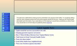 Screenshot of Jackpike's Aquarium Website