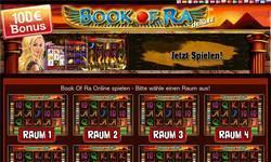 Screenshot of Book of Ra Online