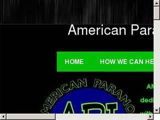 Screenshot of American Paranormal Investigations