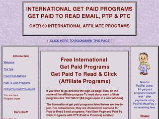 Screenshot of 100+ International Get Paid to Read Email Programs