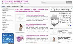 Screenshot of Parenting Tips and Guidance Blog