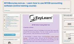 Screenshot of free MYOB training course knowledge quiz