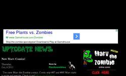 Screenshot of flashzombies.com - dead and the undead