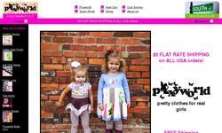 Screenshot of Boutique Baby & Toddler Girls' Clothes by Pixyworld