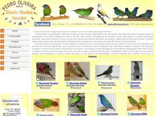 Screenshot of PEDRO OLIVEIRA - Exotic finches breeder