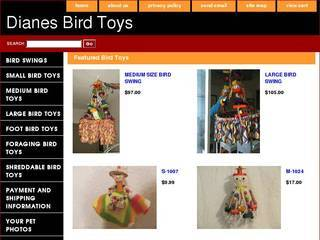 Screenshot of Dianes Bird Toys