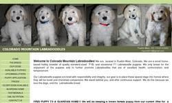 Screenshot of Colorado Mountain Labradoodles