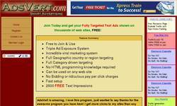 Screenshot of Post Free Text Ads on 1000s homepages....:)