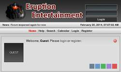 Screenshot of Eruption Entertainment