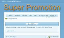 Screenshot of super promotion