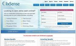 Screenshot of clixsense