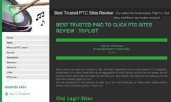Screenshot of Best Trusted PTC Sites Review