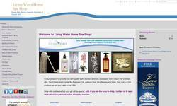 Screenshot of Living Water Home Spa Shop