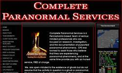 Screenshot of Complete Paranormal Services