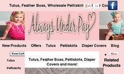 Screenshot of Wholesale pettiskirts, tutus hairbows and flower clips