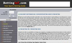 Screenshot of BETTINGINF.COM - FREE Betting Tips, Reviews, Free Bets