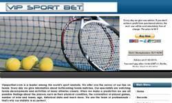Screenshot of VipSportBet.com, tennis tips