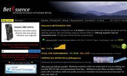 Screenshot of Betessence.com - Betting Service with 14% yield
