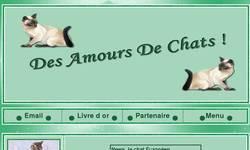 Screenshot of Des Amours De Chats