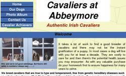 Screenshot of Authentic Irish Cavaliers