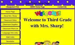 Screenshot of Mrs. Sharp's Super Second Grade Classroom