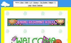 Screenshot of Blessed Sacrament Fifth Grade
