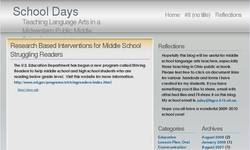 Screenshot of School Days - Teaching Language Arts in a Public Middle School