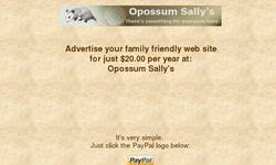 Screenshot of Opossum Sally's