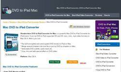 Screenshot of mac DVD to ipad converter